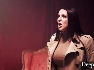 Deeper. Angela White Leads Reverse Gangbang in a Warehouse
