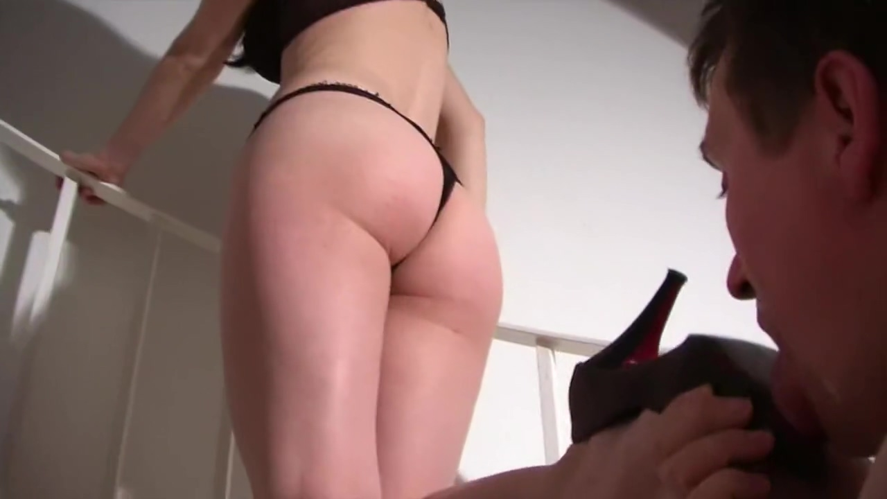 Young German mistress with her whip and submissive boyfriend
