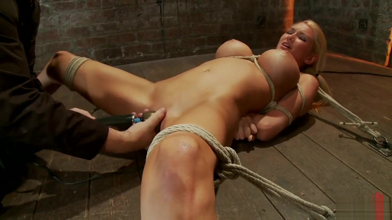 TIED DOWN BITCH IS TORTURED BDSM