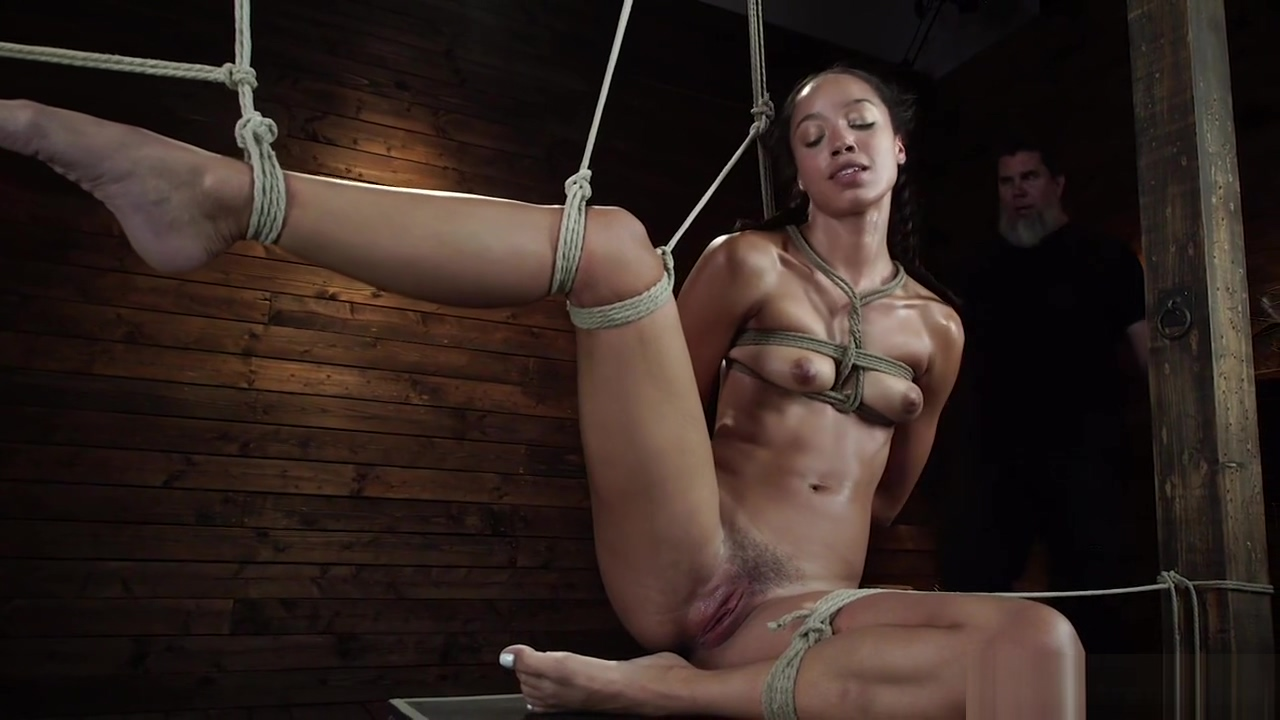 Latina slave in tight bondage vibrated
