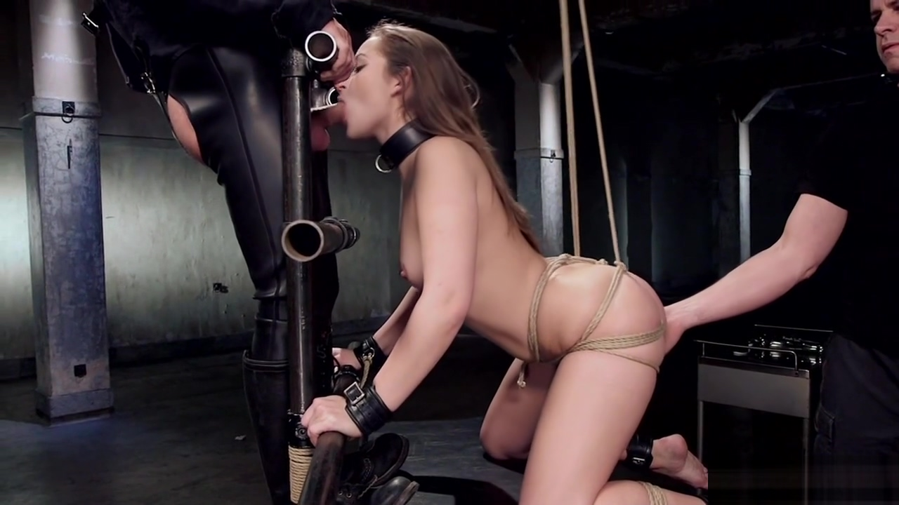 Hot ass brunette gets slave training sex