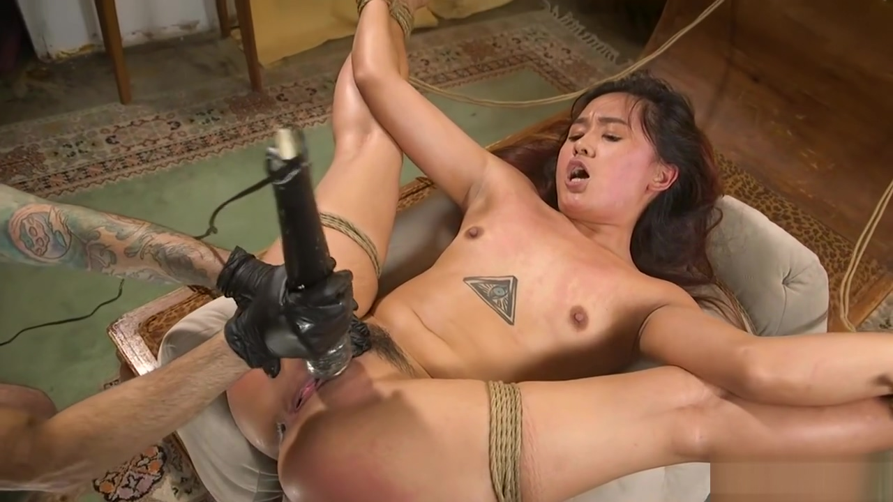 Petite Asian sub rough banged bdsm