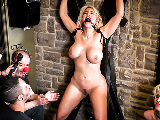 FORBONDAGE - Big Ass Blondie BDSM Punished By Kinky Group