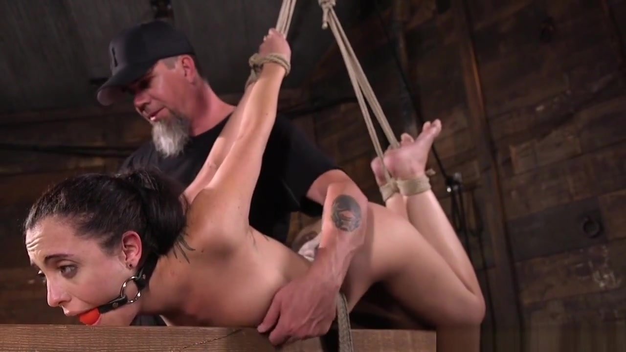 Tattooed Slave Suspended And Disciplined